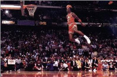Michael Jordan in the Slam Dunk Contest